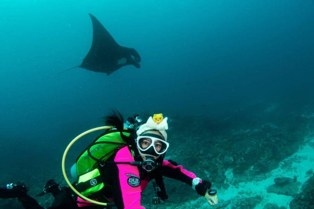 Ile Indonésie : plongée avec la Raie Manta Bali à Nusa Penida